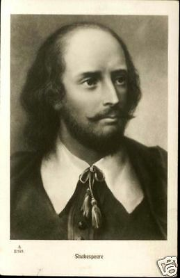 FAMOUS ENGLISH WRITER SHAKESPEARE;OLD CARD 1900 + POSTCARD  RUSSIA,