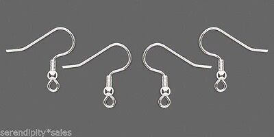 200 SILVER Plated Stainless Steel Ear Wires~ Earrings _ French Hooks 100 pairs
