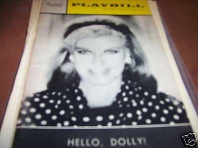 Hello Dolly Playbill St James Theatre Ginger Rogers