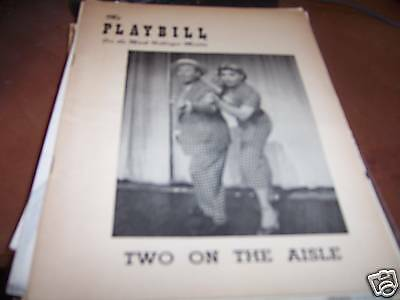 Two on the Aisle Playbill Mark Hellinger Theatre 1951
