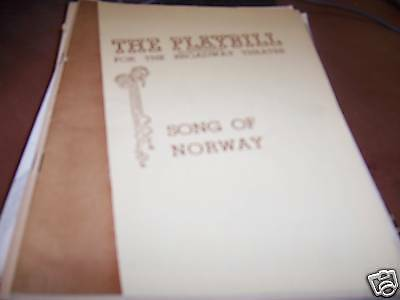 Song of Norway Playbill Broadway Theatre 1946