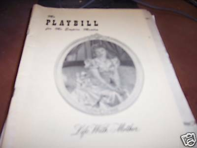Life with Mother Playbill Empire Theatre 1/10/49