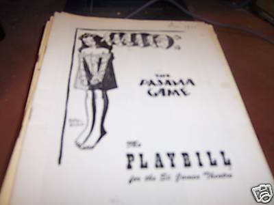 The Pajama Game Playbill St James Theatre 12/12/55