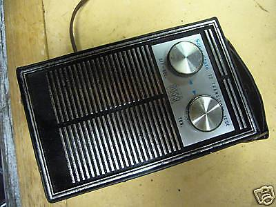 VINTAGE LEATHER CASE ROSS  AM TRANSISTOR RADIO EXC!!!