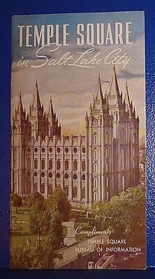c1950 Temple Square SALT LAKE CITY, UT Booklet