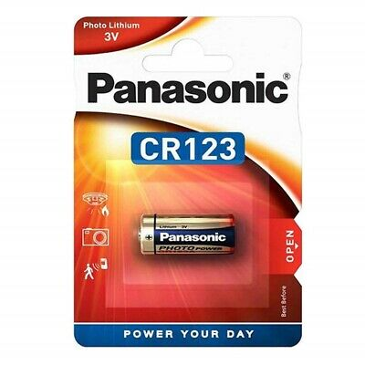 2x CR123A Foto-Batterie Lithium CR123 Photo Batterien von PANASONIC Blisterpack