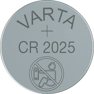 4x CR2025 Lithium Knopfzelle 3V CR 2025 VARTA lose