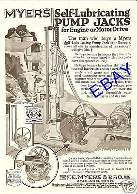 Large F E Myers Pump Jack Engine Ad Water Ashland Ohio