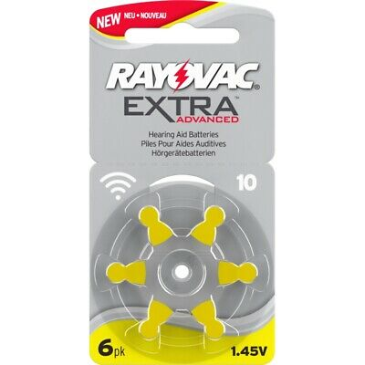 60x Hörgeräte-Batterie Typ 10 Rayovac Extra Advanced