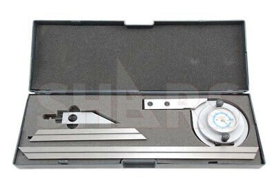 Stainless Universal 6 12 90 Dial Bevel Protractor Satin