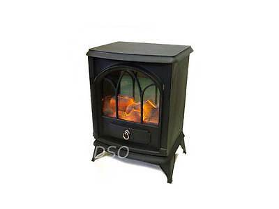 Stylish 2000W Portable Stove Electric Fire Heater Fireplace Log Burning Design