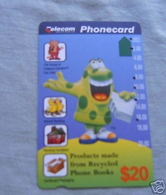 Phonebook Recycling Telecom $20  Phonecard