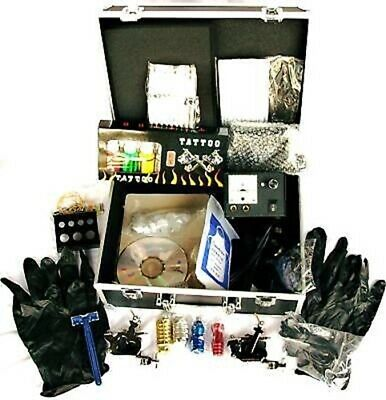 Full Tattoo Kit/ 4 Guns,Ink,Needles,Machine.UK Seller!!