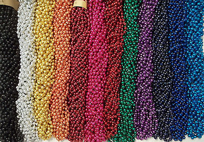 216 Choice Color Mardi Gras Beads Necklaces Party Favors Huge Lot 18 Dozen