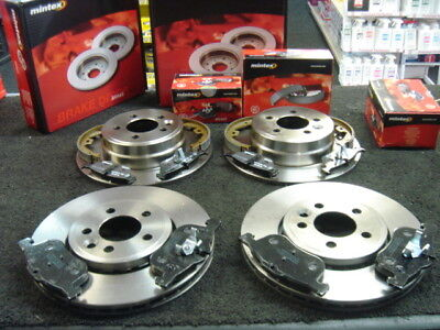 ROVER 75 MINTEX FRONT & REAR BRAKE DISCS & PADS & SHOES