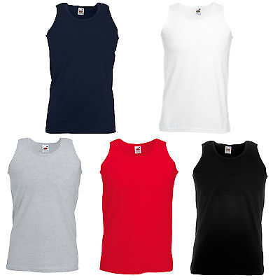 Fruit Of The Loom Vest Tank Tops Bn 5 Colours All Sizes