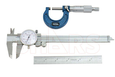 Out of Stock 90 Days 3 PRECISION CALIPER MICROMETER SCALE COMBO RULE KIT