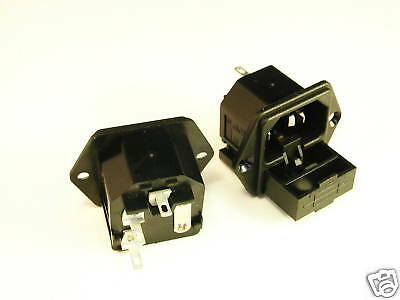 Bulgin Pf0002 Flange Mount Fused Iec Chassis Connector