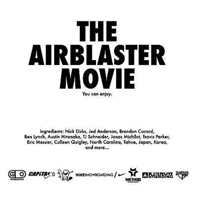 The Airblaster Movie snowboard dvd