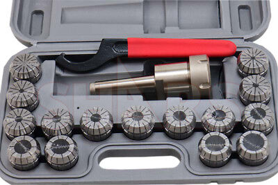 Shars MT3 3MT 1/8-1 ER40 ER-40 Collet Chuck Tool Holder 17Pcs Set NEW