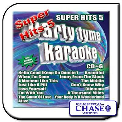 Party Tyme Karaoke Cd Cdg Cd+G Disc Backing Tracks Song Super Hits 5 Pop