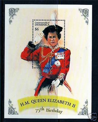 Dominica 2001 Queens 75th Birthday MS SG3072 MNH