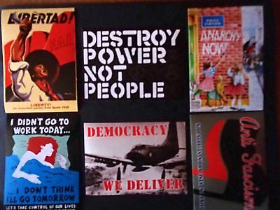 Anarcho Stickers Six Pack / Anarchy / Punk / Class War / Festival / Protest