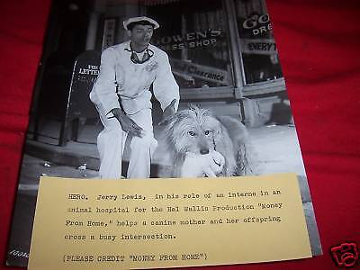 MOVIE AP WIRE PHOTO MONEY FROM HOME Jerry Lewis 1950s