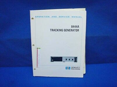HP 8444A Tracking Generator Operating & SERVICE Manual