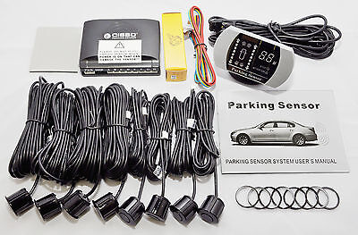 Cisbo 8 Sensors Front And Rear Parking Reversing Sensor Buzzer Led Display Kit