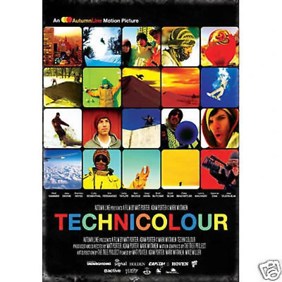 Technicolour Snowboard DVD All region NEW