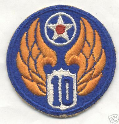 WW II 10th AIR FORCE patch