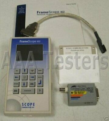 Agilent FrameScope 802 Scope Network Analyzer AT-MX10