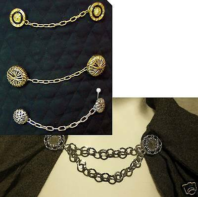 Chain clasp for cape cloak/10 kinds/silver/gold/jewel