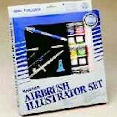 NEW! Badger 100-34 Illustrator Double Action Internal Mix Airbrush Paint Set