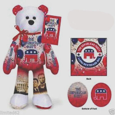 Republican Party Plush Bear - $11.99 - FREE DELIVERY IN THE U. S. A.