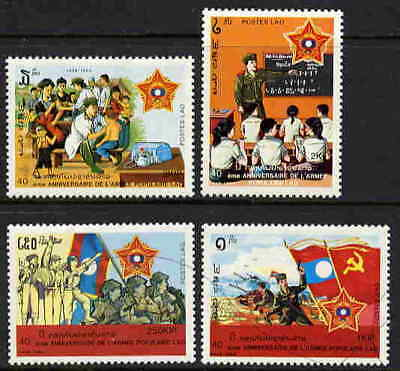 Laos 1989 People's Army Stamps - Mint Complete Set!
