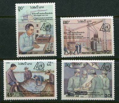 Laos 1990 United Nations - Medicine Stamps - Set Of 4