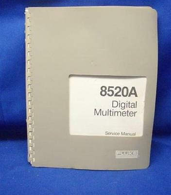 fluke 8520a digital multimeter operating service manual 10 95 rh picclick com Owner's Manual Manual Book