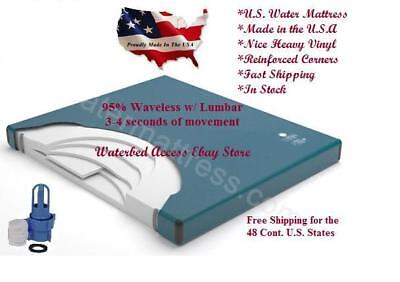 95% MOTIONLESS WATERBED MATTRESS w/LUXURIOUS 3000 COVER