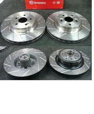 Renault Clio 197 Rs Brake Disc Ross Drilled Grooved Brake Disc Front Rear Sets