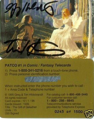 Hildebrandt Brothers LOTR Gift Of Galadriel Signed PC