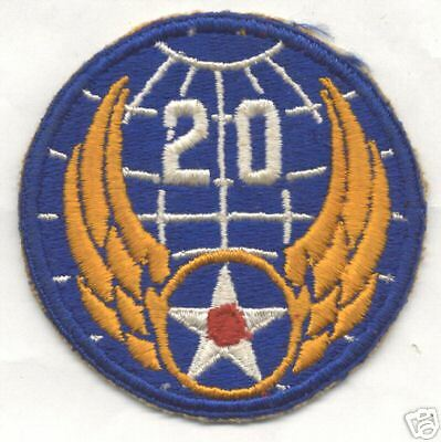 WW II 20th AIR FORCE patch