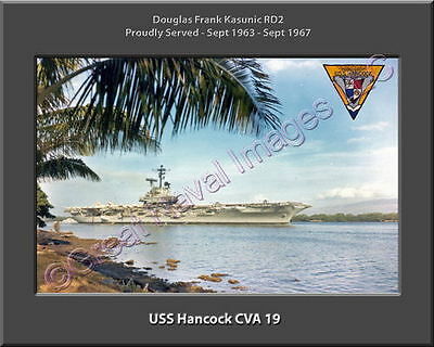 USS Hancock CVA 19 Personalized Ship Canvas Print