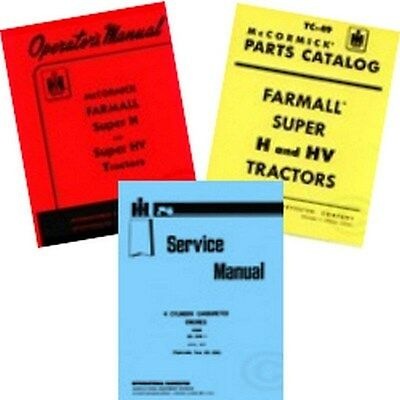 Farmall Super H Service Owners Operators Parts Manual