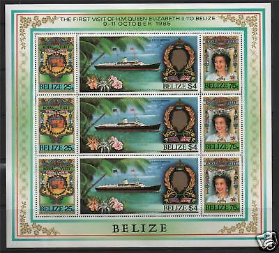 Belize 1985 Royal Visit Sheet SG862/4 x 3 MNH