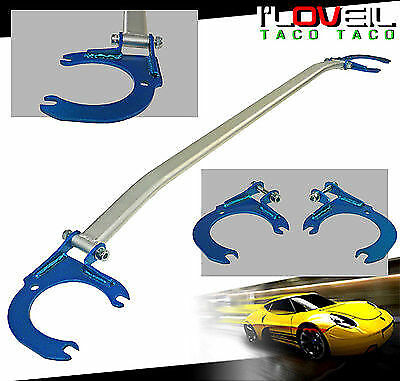 03 04 05 06 Scion Xb Front Upper Strut Wide Bar Tower Silver With Blue Brackets