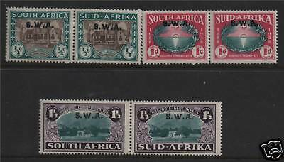 South West Africa 1939 Definitive pairs SG111/13 MM