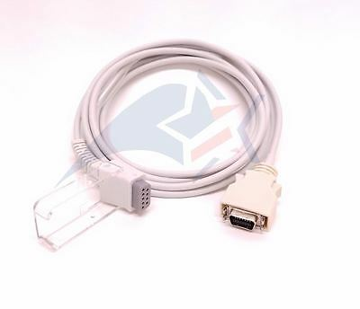 Nellcor 295 395 SCP-10 compatible extension adapter cable 1 YR warranty