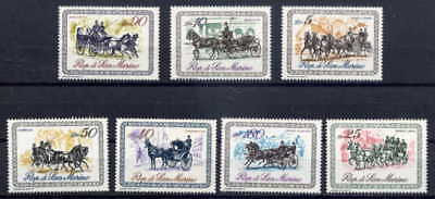 San Marino 1969 Horses & Carriages Complete Set Of 7!